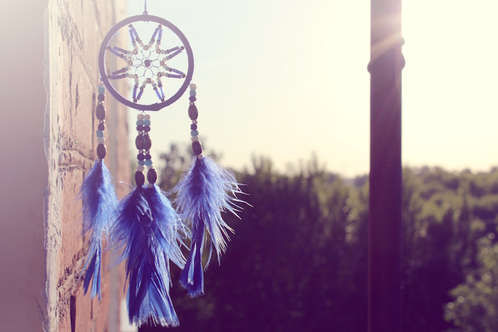 blue dreamcatcher sun