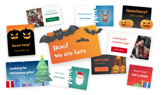 Holiday eye-catchers in LiveChat