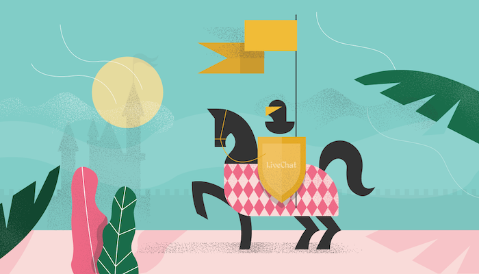 knight horse castle illustration facebook chat plugin