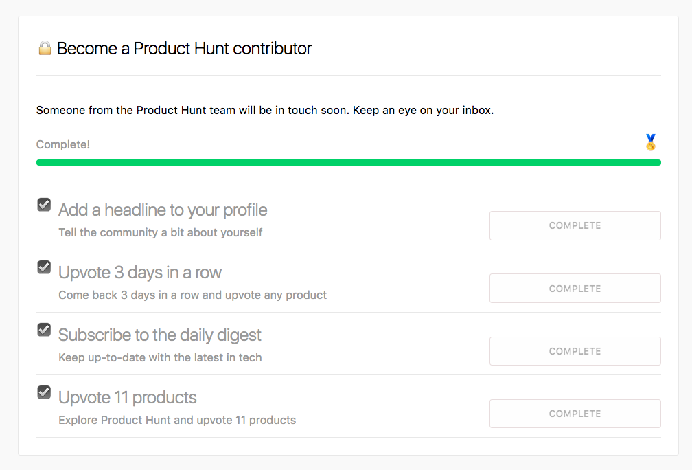 becoming Product Hunt contributor