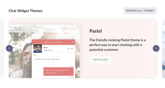Access Chat Widget Themes straight from LiveChat Marketplace!