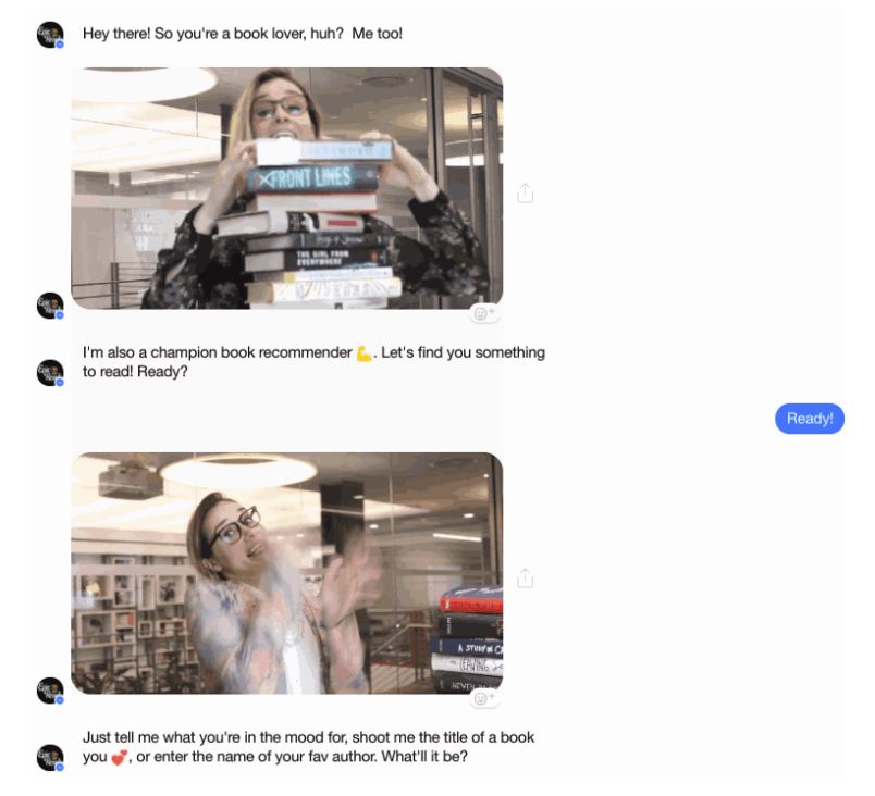 funny coversation with chatbot screen