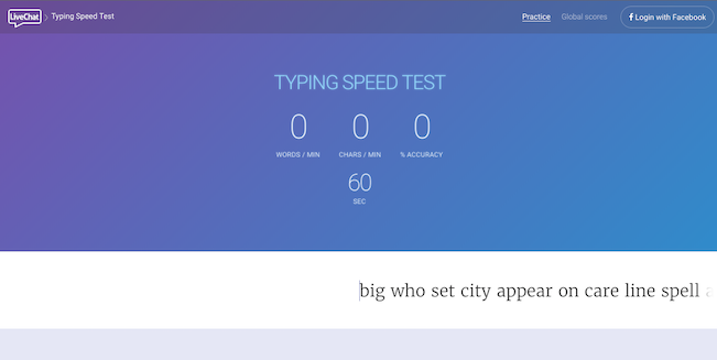 typing speed test tool for b2b lead generation