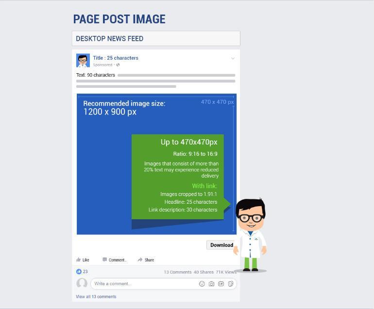 Image size for facebook offer post