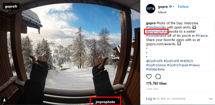 gopro user generated content instagram post