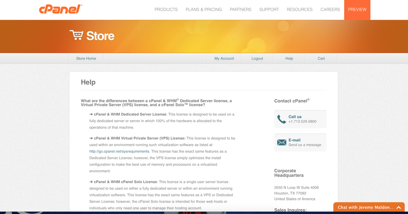 Cpanel Success Story Livechat