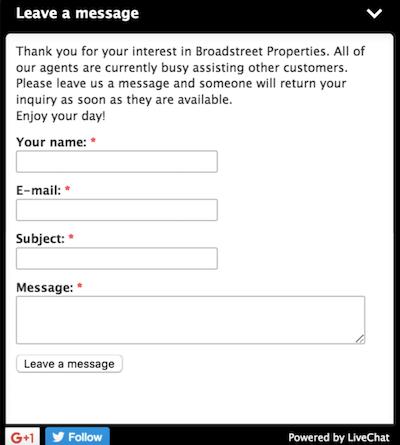 live chat unavailable agent message