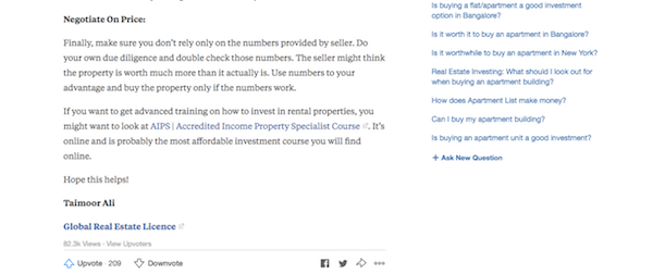 Quora as a real estate lead gen tool