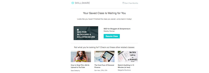 skillshare upselling cross-selling example