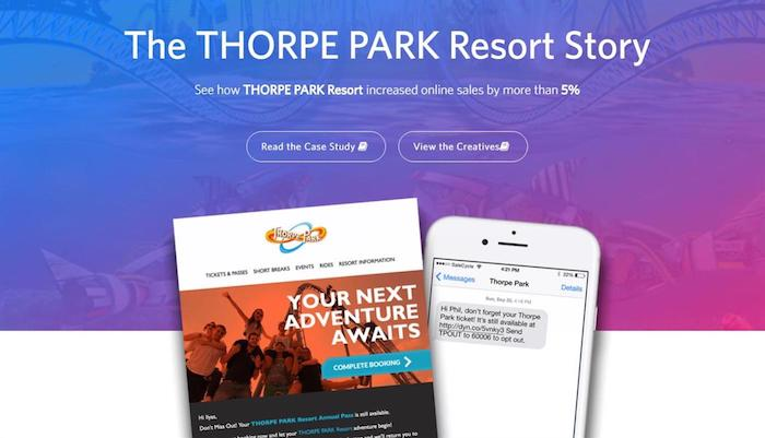 thorpe park unfinished book sms ecommerce