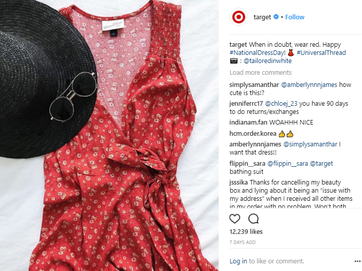 target instagram post user generated content