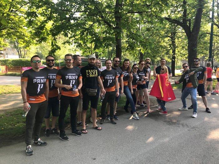 LiveChat marathon supporters