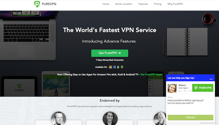 pureVPN customer service