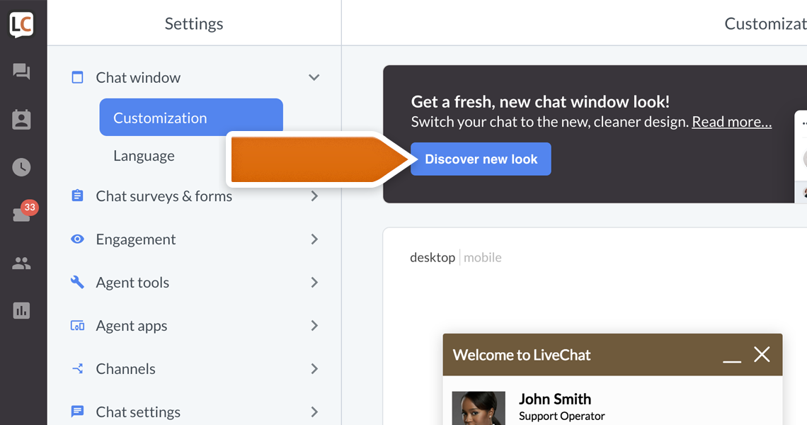 Get a New Look for Your Chat! | LiveChat Updates
