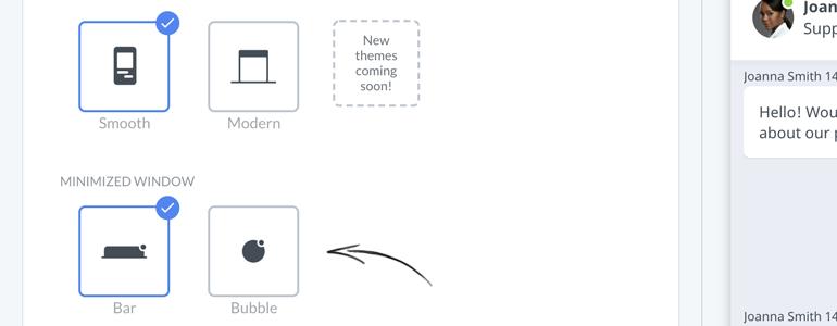 New Chat Configurator: Pick a theme