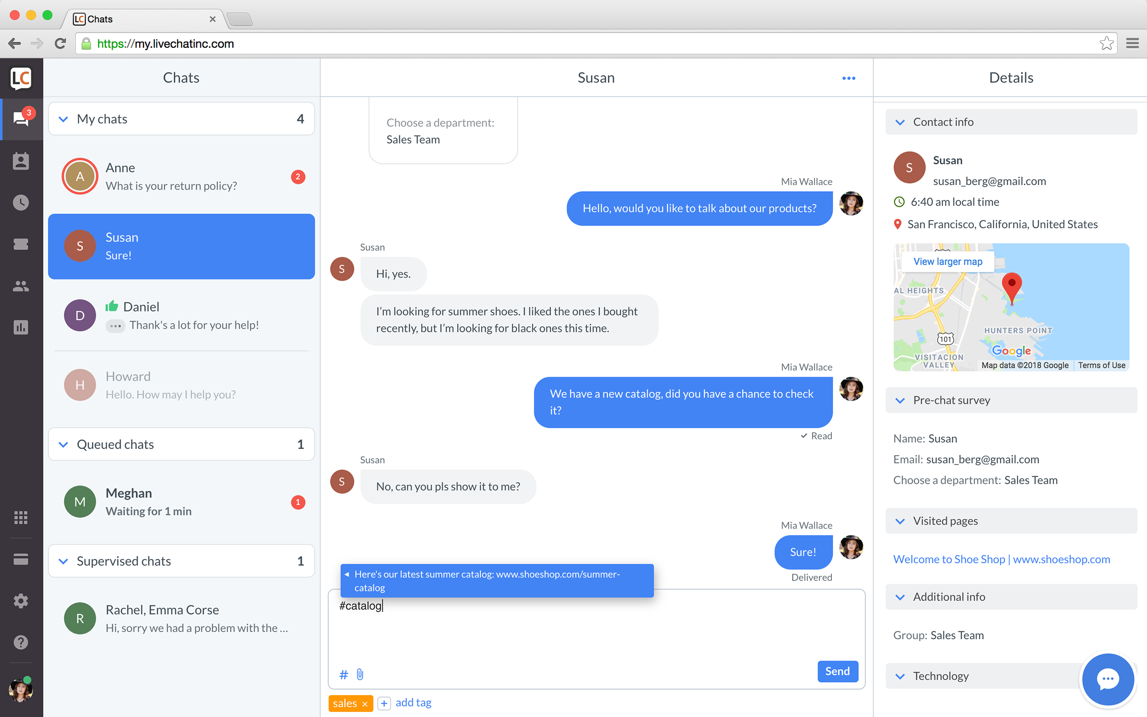 Sneak peek of LiveChat's new platform