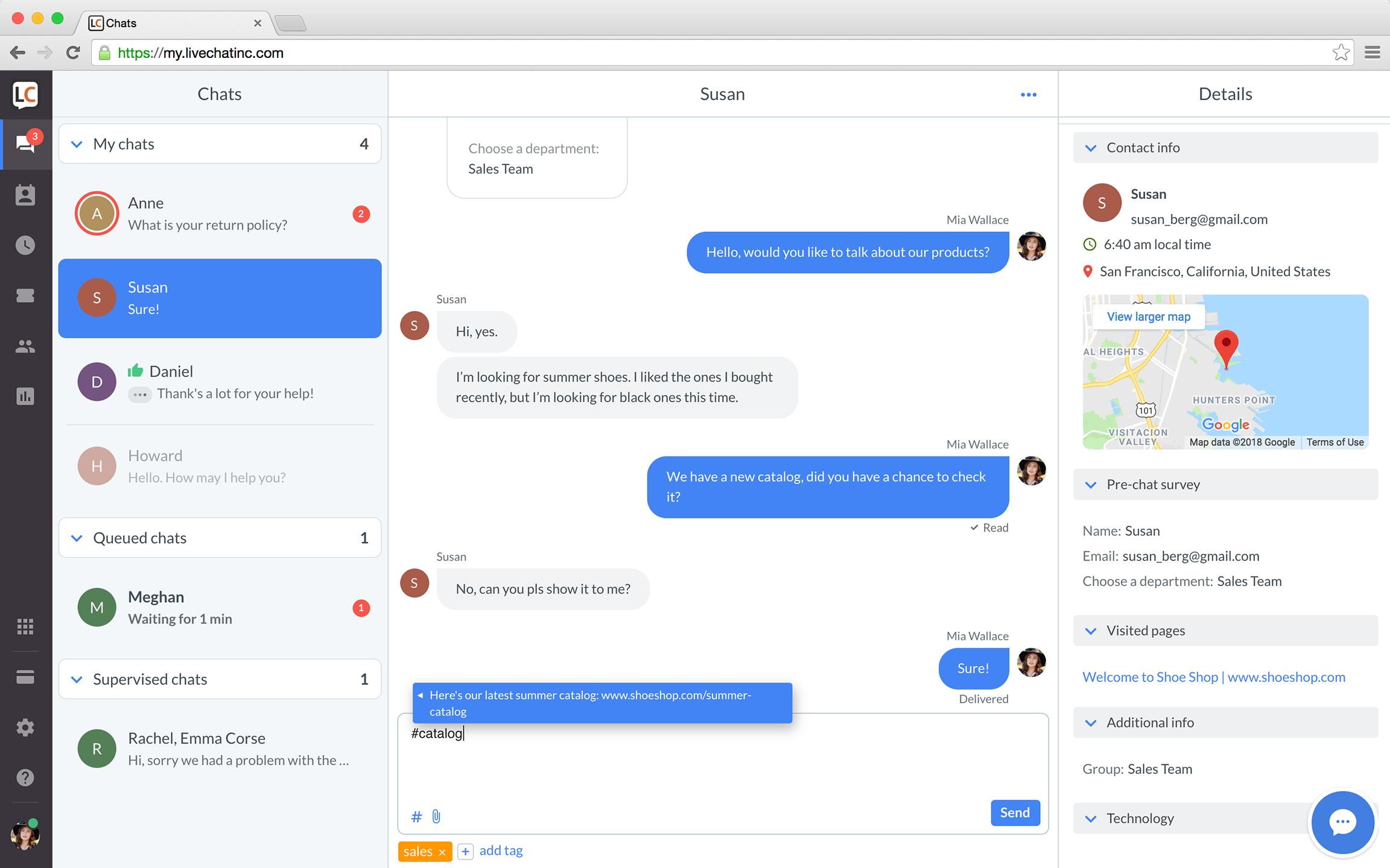 Sneak peek of LiveChat's new platform