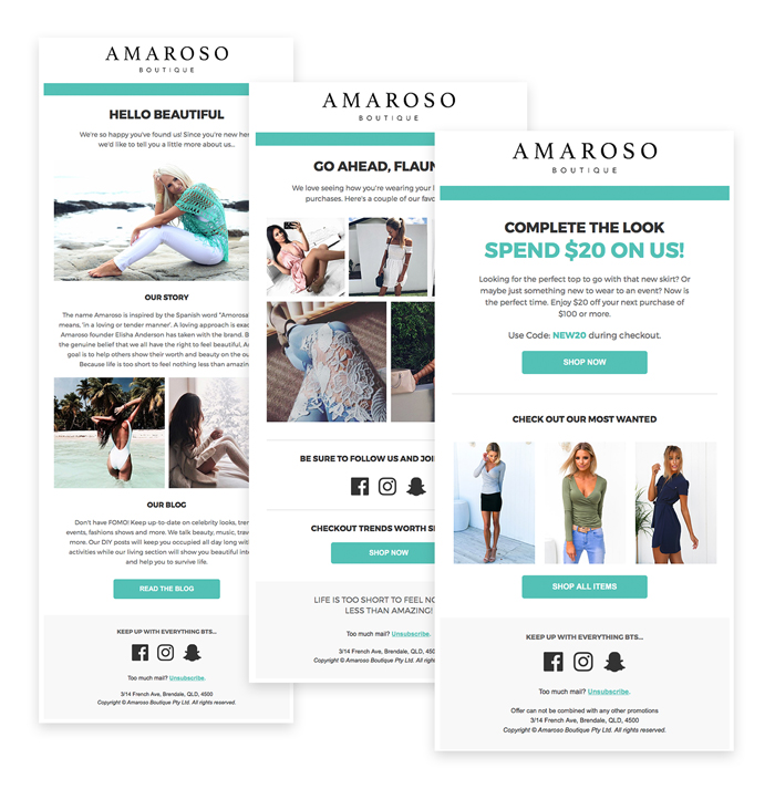 amoroso re-engagement email sequence