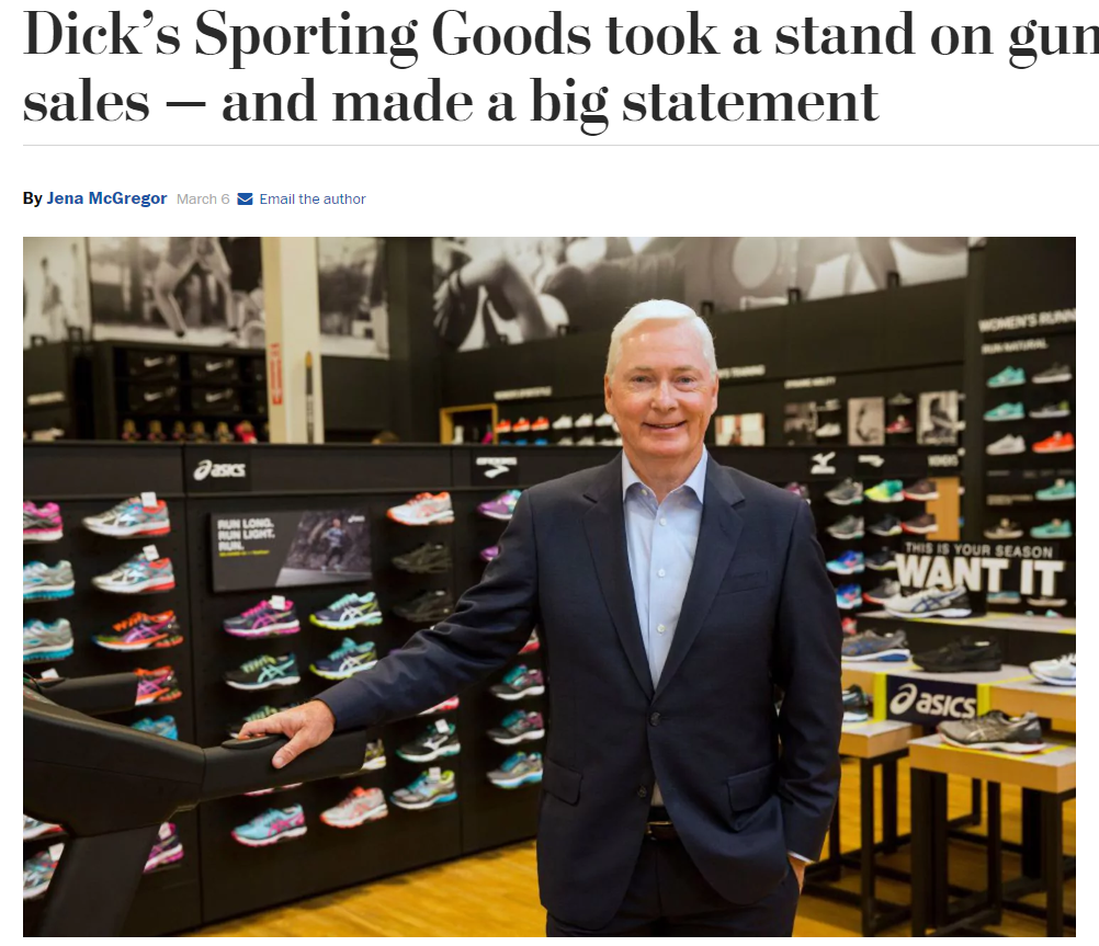 dick sporting goods stop selling firearms article