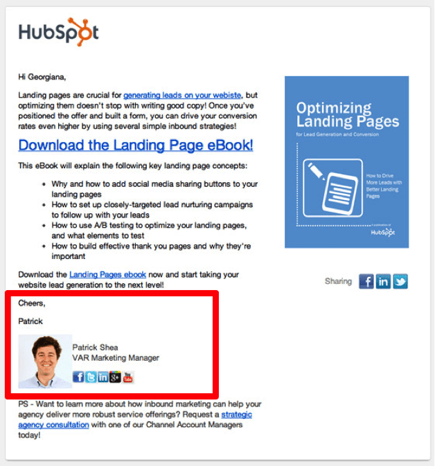hubsport personalized re-engagement email