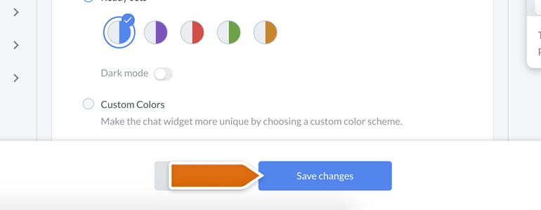 New Look for your Chat: apply changes to your chat