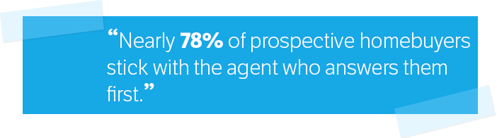 78% of prospects stays with home agent who answers first
