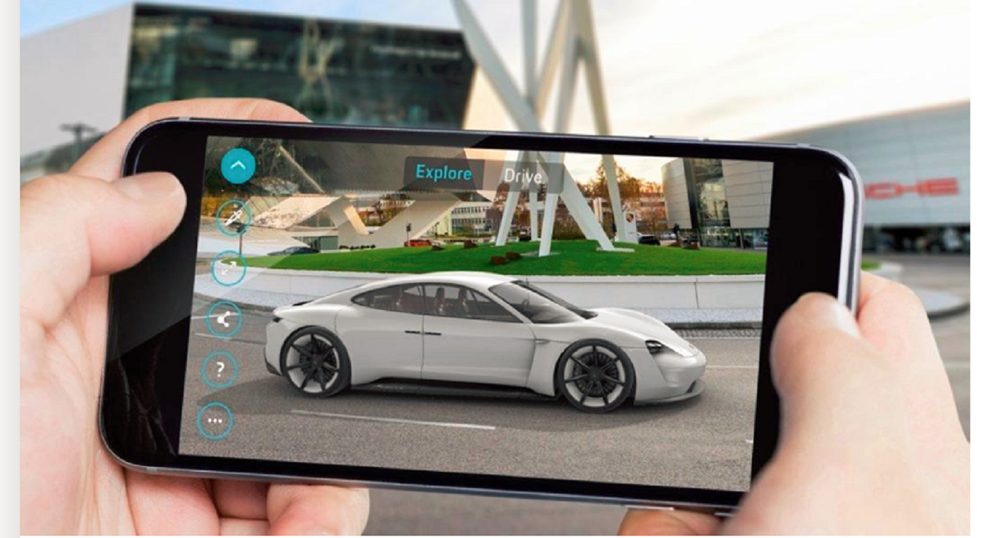 porsche augumented reality test drive