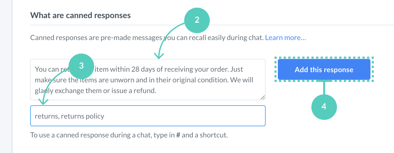 Save canned responses from settings