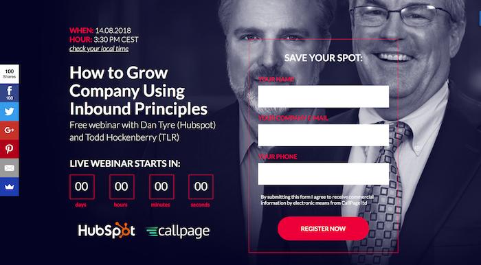 callpage hubspot webinar
