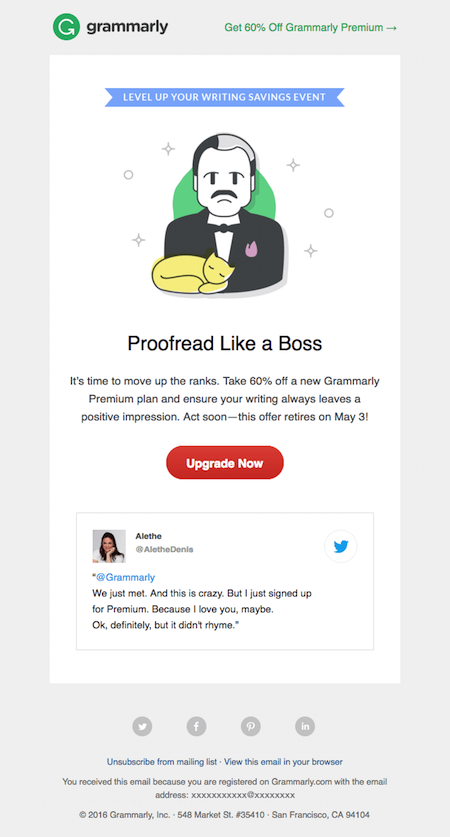 grammarly proofread email
