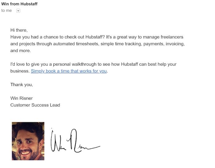 Hubstaff onboarding email