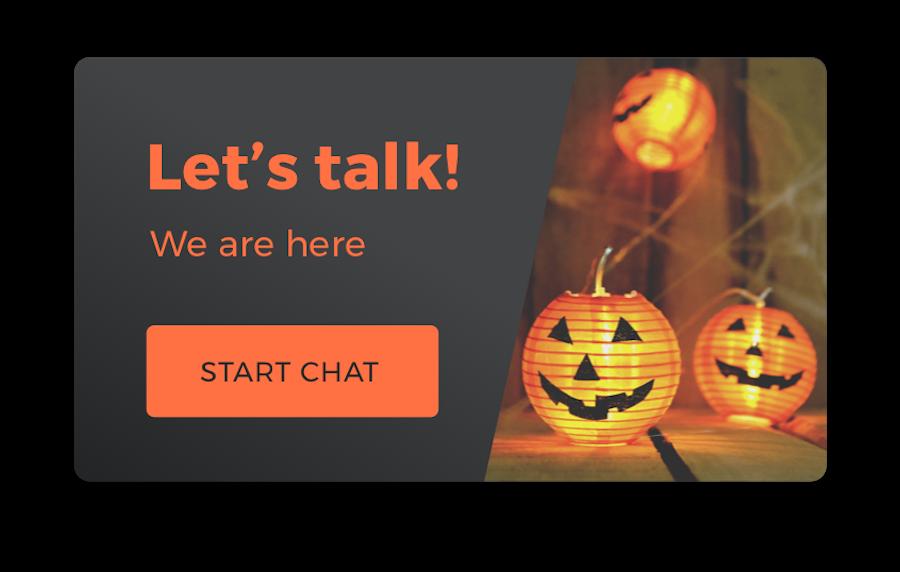 LiveChat Halloween eye-catcher
