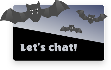 LiveChat scary Halloween eye-catcher