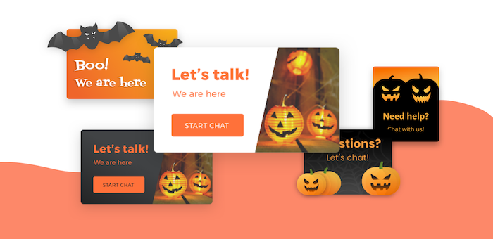 halloween on live chat greetings