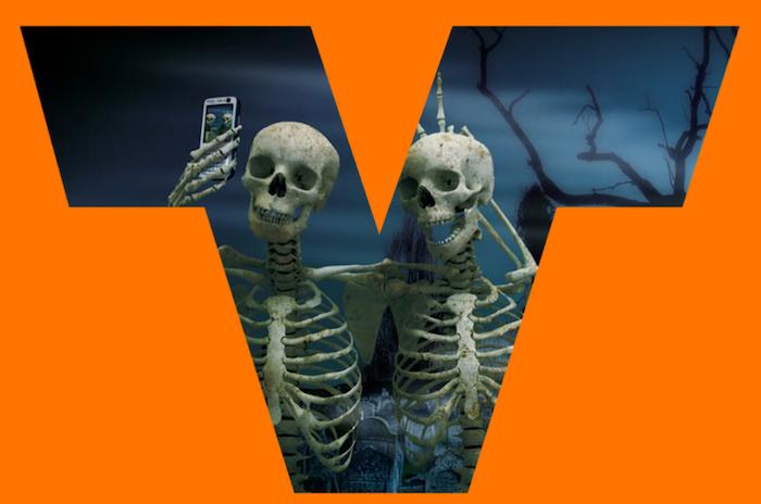 valley driving school halloween logo