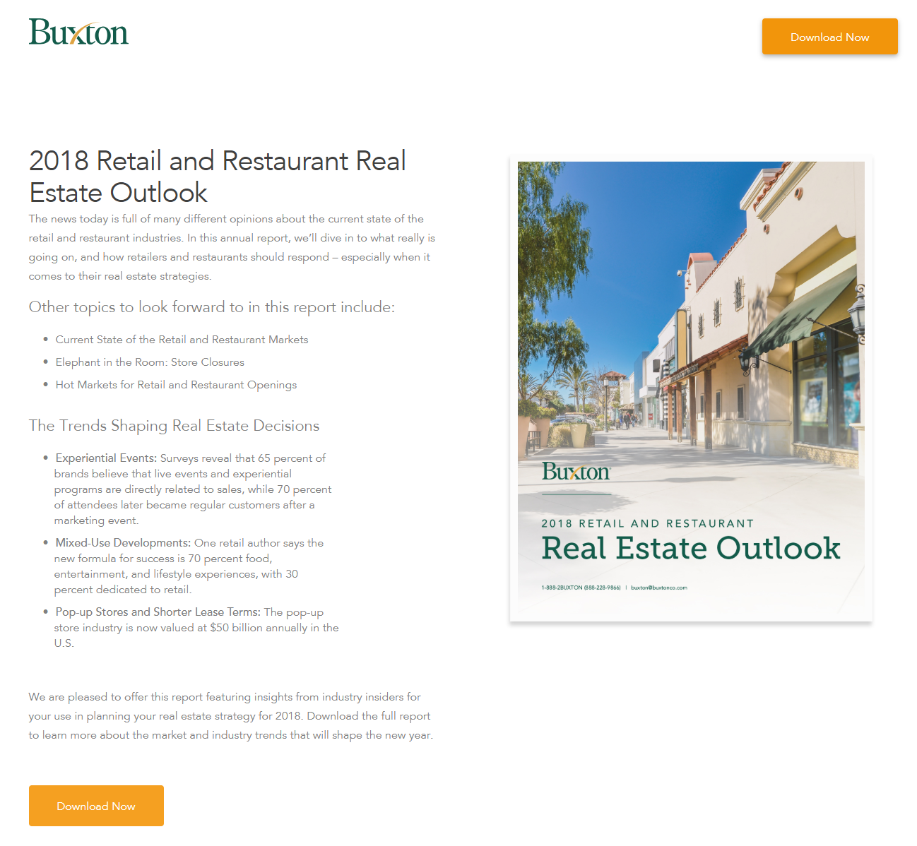 buxton landing page download real estate report