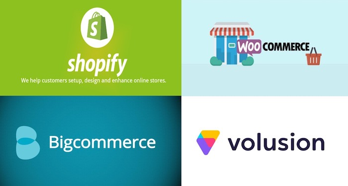 shopify woocommerce bigcommerce volusion graphics