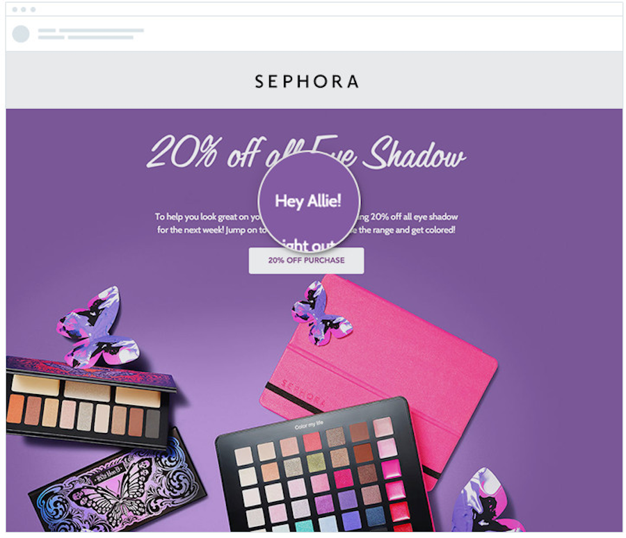 Sephora personalized email