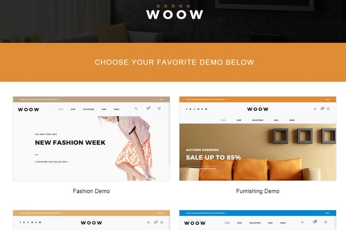 woocommerce store template