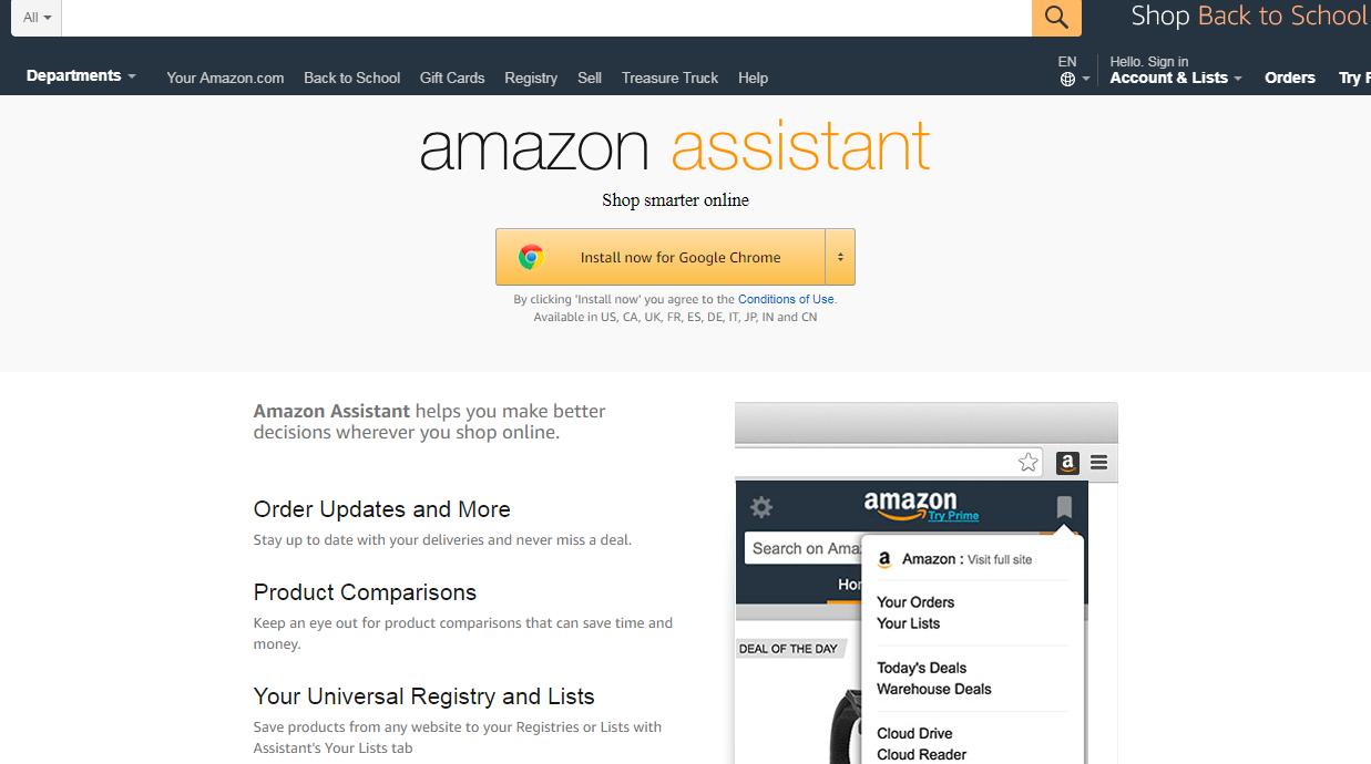 Amazon Asistant