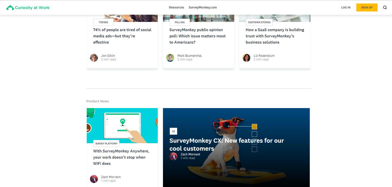 survey monkey curiosity at work blog