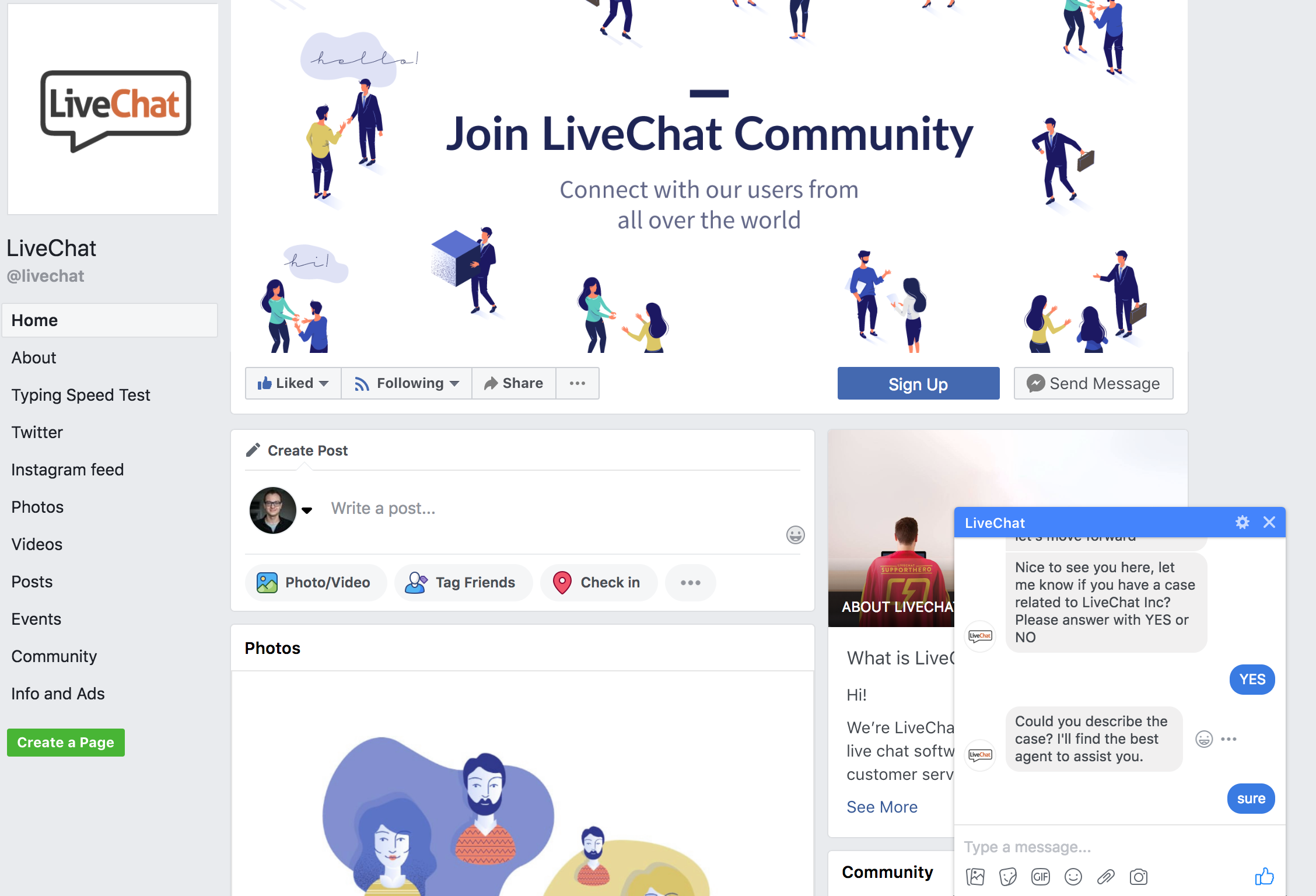 livechat messenger chatbot