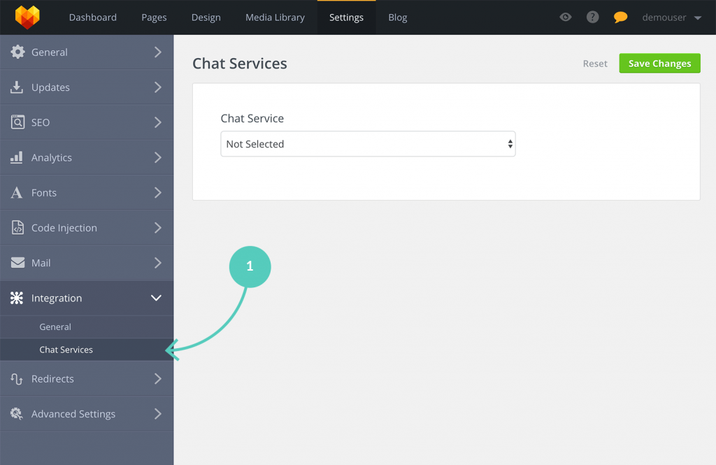 MotoCMS LiveChat: go to Chat services