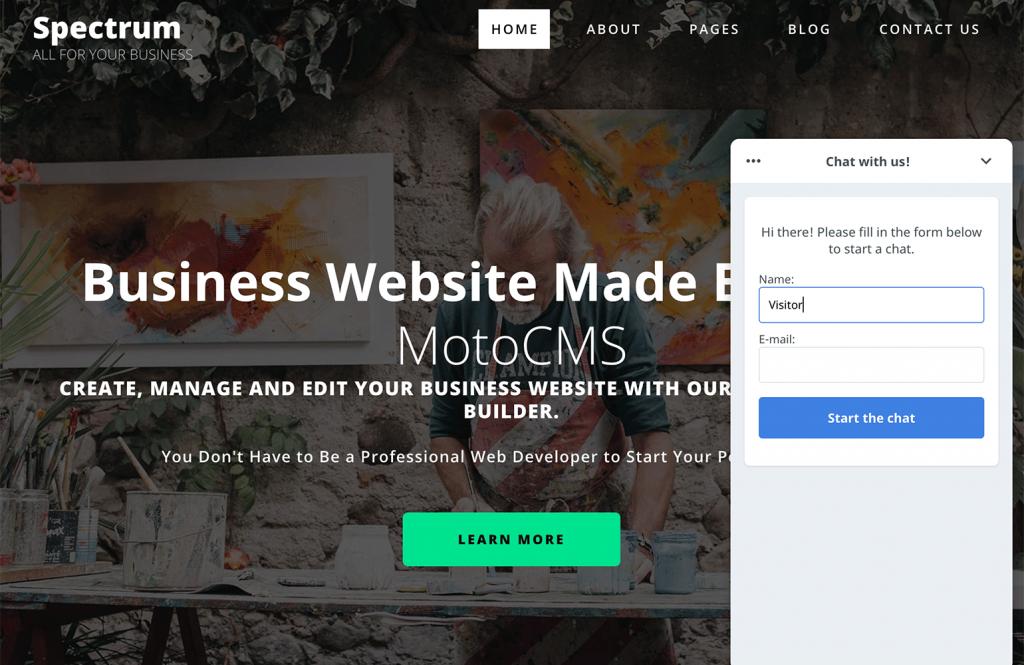 MotoCMS LiveChat website