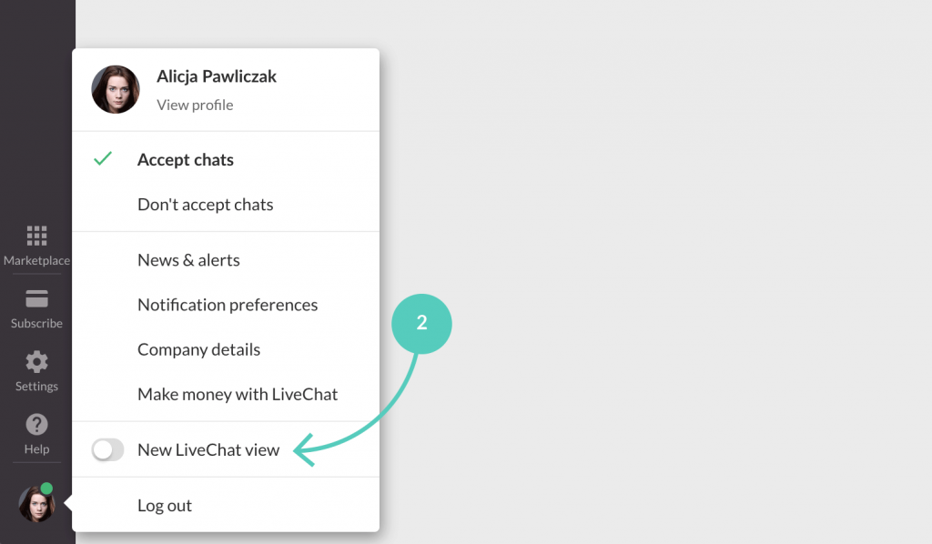 Switch to new LiveChat view