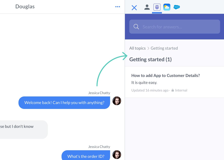 App tab in Customer Details