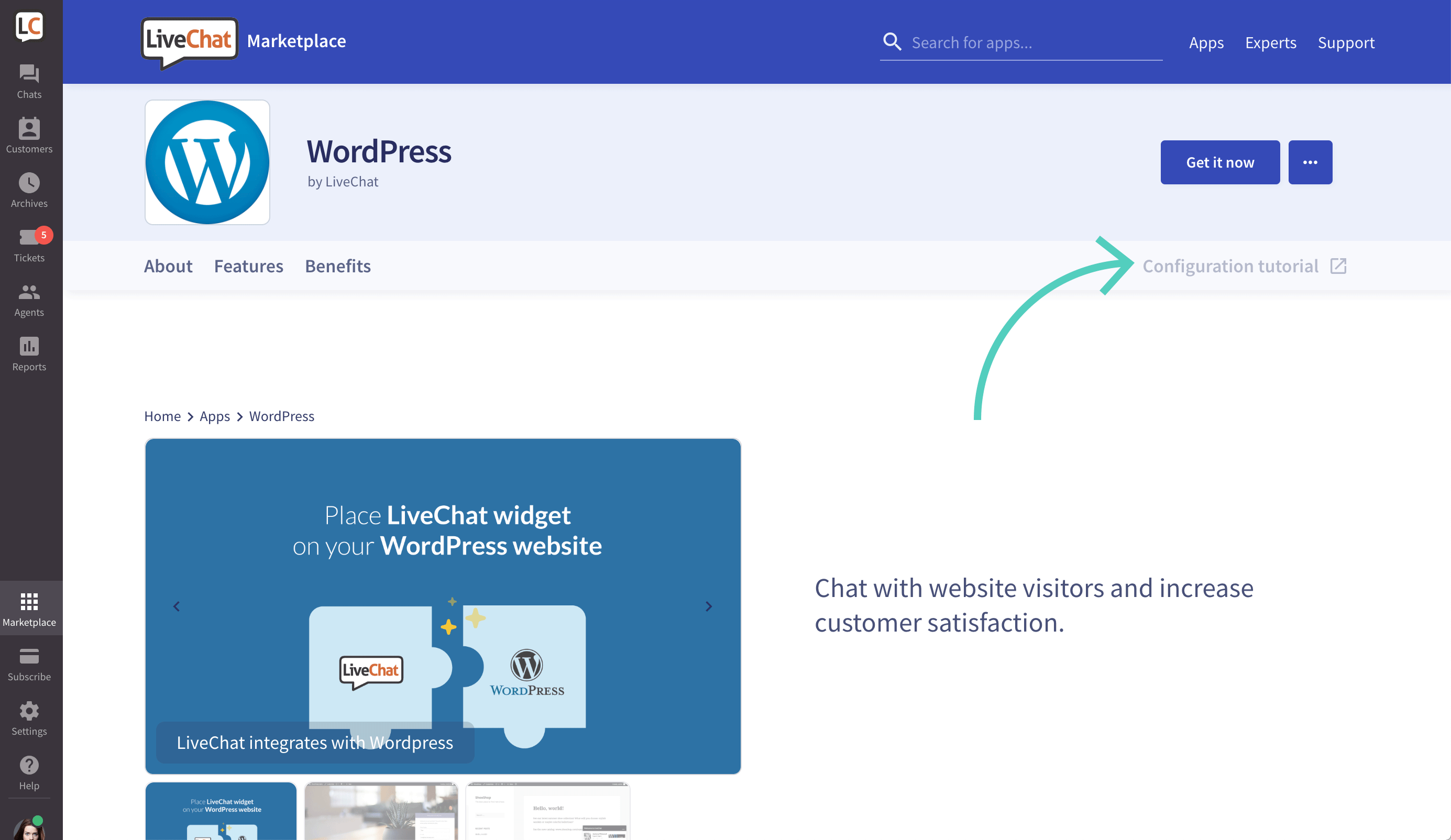 LiveChat integration configuration tutorial