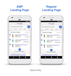 benefits of AMP landing page