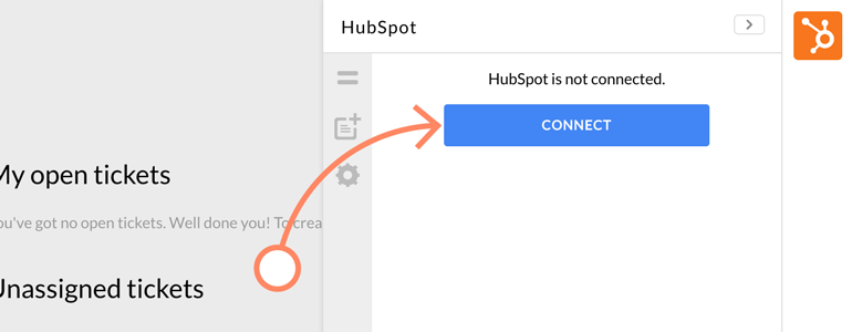 Click on Connect to link your Hubspot with LiveChat
