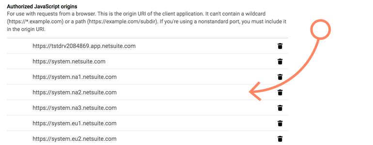 NetSuite LiveChat: add Authorized JavaScript origins